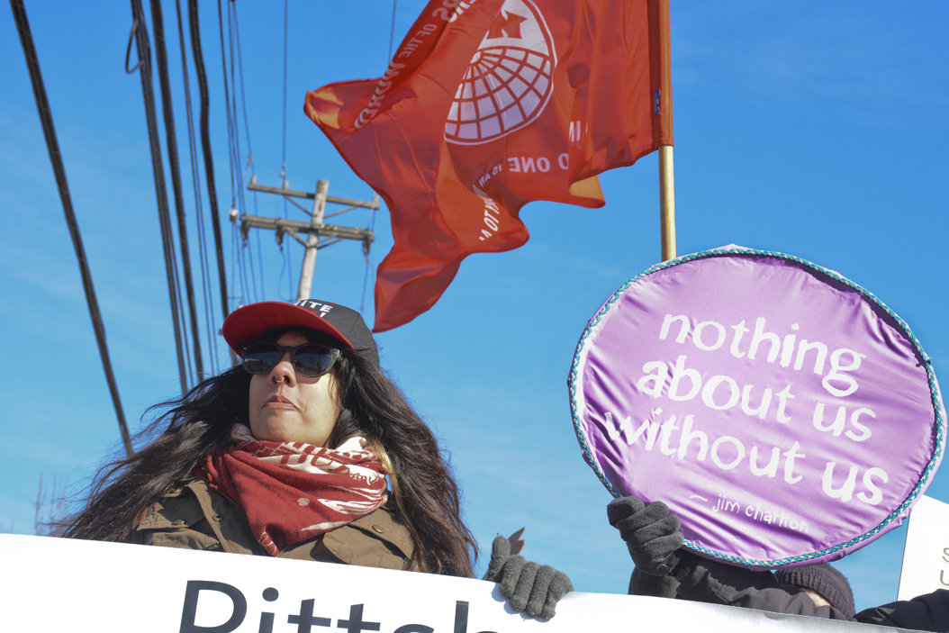 Pittsburgh residents marched against Uber on Saturday afternoon. Stephen Caruso | Online Visual Editor