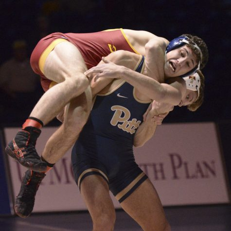 Think Twice: Pitt wrestling defeats Iowa State and UVA