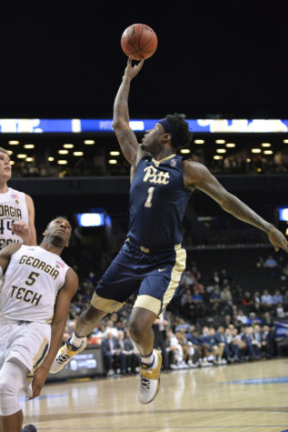 Senior point guard Jamel Artis (1) finished with 11 points, nine rebounds and four assists in Pitt's 61-59 win over Georgia Tech.