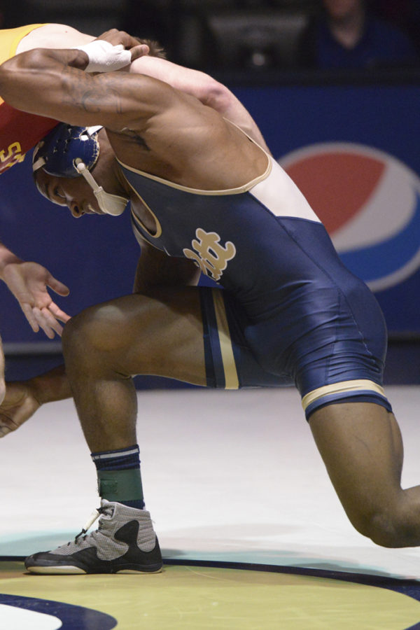 ACC Champion 165-pounder TeShan Campbell is transferring to Ohio State University. Anna Bongardino | Staff Photographer