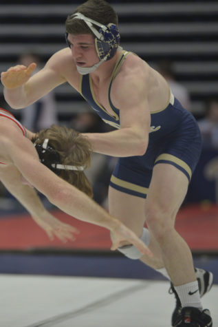 Junior Dom Forys, Pitt's highest-seeded wrestler, enters the NCAA Championships as the No. 6 seed at 133 pounds. John Hamilton | Visual Editor