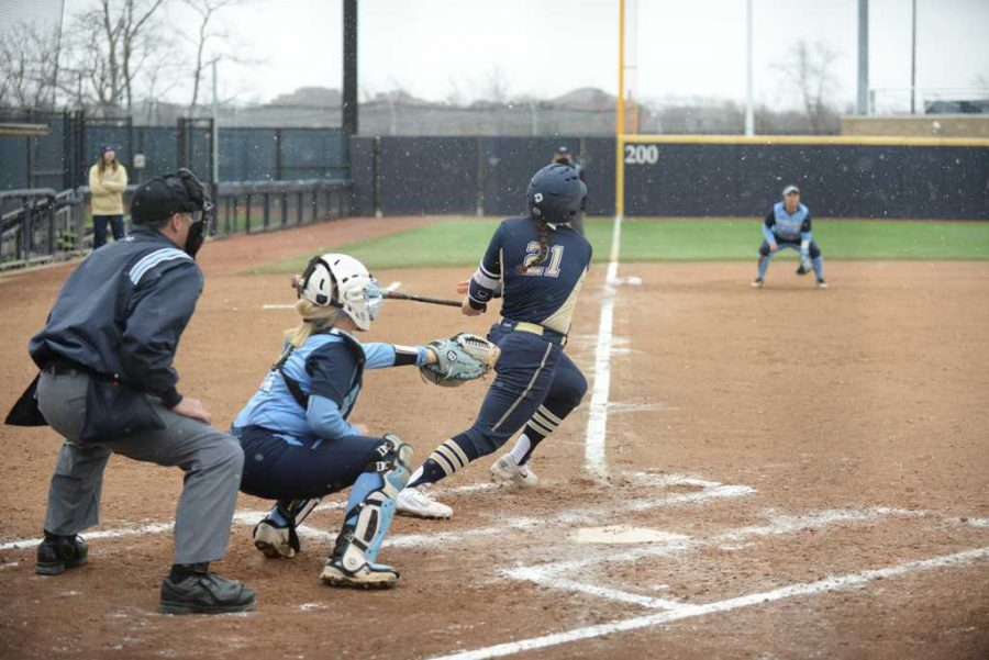 Junior Giorgiana Zeremenko (21) drove in five runs at North Carolina on Sunday, but it wasn't enough for Pitt to avoid a three-game sweep. John Hamilton | Visual Editor
