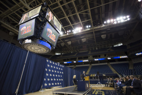 Pitt coaches, athletes and athletic administrators gathered at the Petersen Events Center Monday for Heather Lyke's introductory press conference. John Hamilton   Visual Editor
