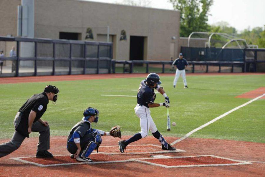 The+Pitt+baseball+team+suffered+a+three-game+sweep+against+the+No.+4+Louisville+Cardinals+to+open+conference+play.+TPN+File+Photo