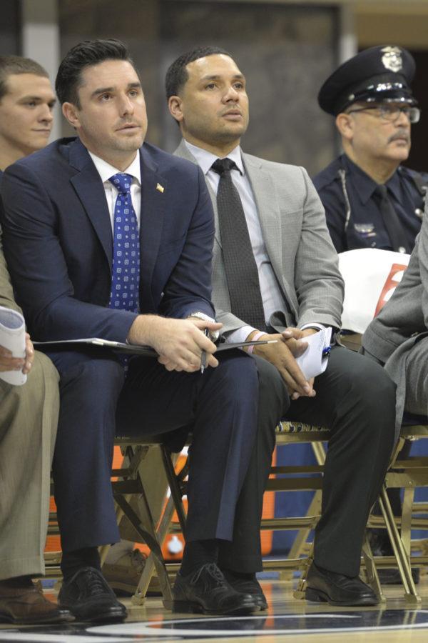 Pitt+men%27s+basketball+assistant+coach+Jeremy+Ballard+%28right%29+is+leaving+to+take+an+associate+head+coach+position+at+VCU.+Meghan+Sunners+%7C+Visual+Editor