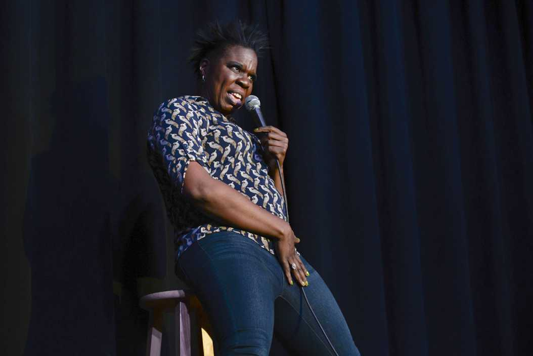 Leslie Jones performed a stand-up routine at the William Pitt Union Tuesday night. Kyleen Considine | Staff Photographer