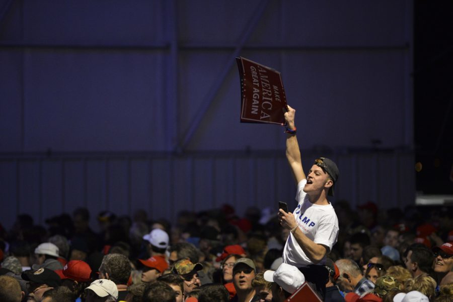 John Hamilton's photo from a Trump rally on Nov. 6 placed 2nd in the news photo category.