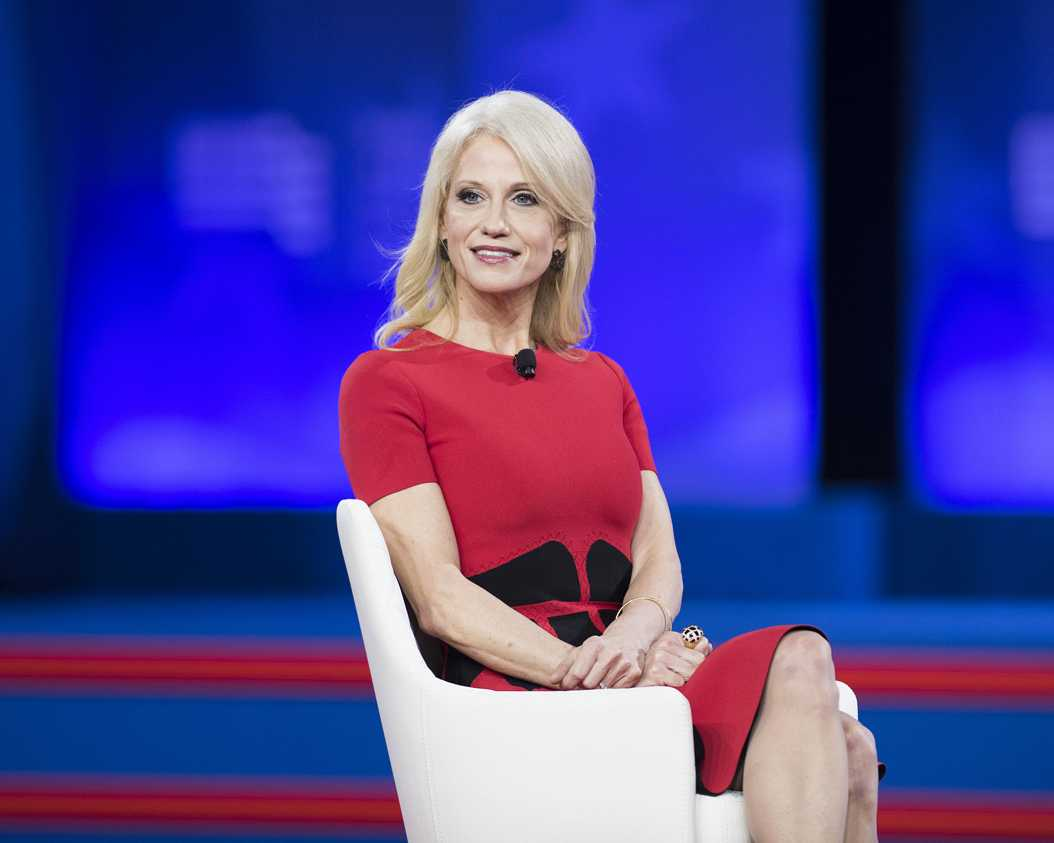Kellyanne Conway speaks at CPAC on Feb. 22., 2017. (Michael Brochstein/Sipa USA/TNS)