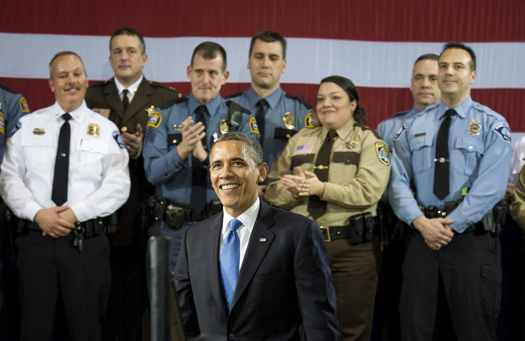 President Barack Obama visits Minneapolis, Minnesota in 2013, to garner support from the law enforcement community for gun control legislation. (Glen Stubbe/Minneapolis Star Tribune/MCT)