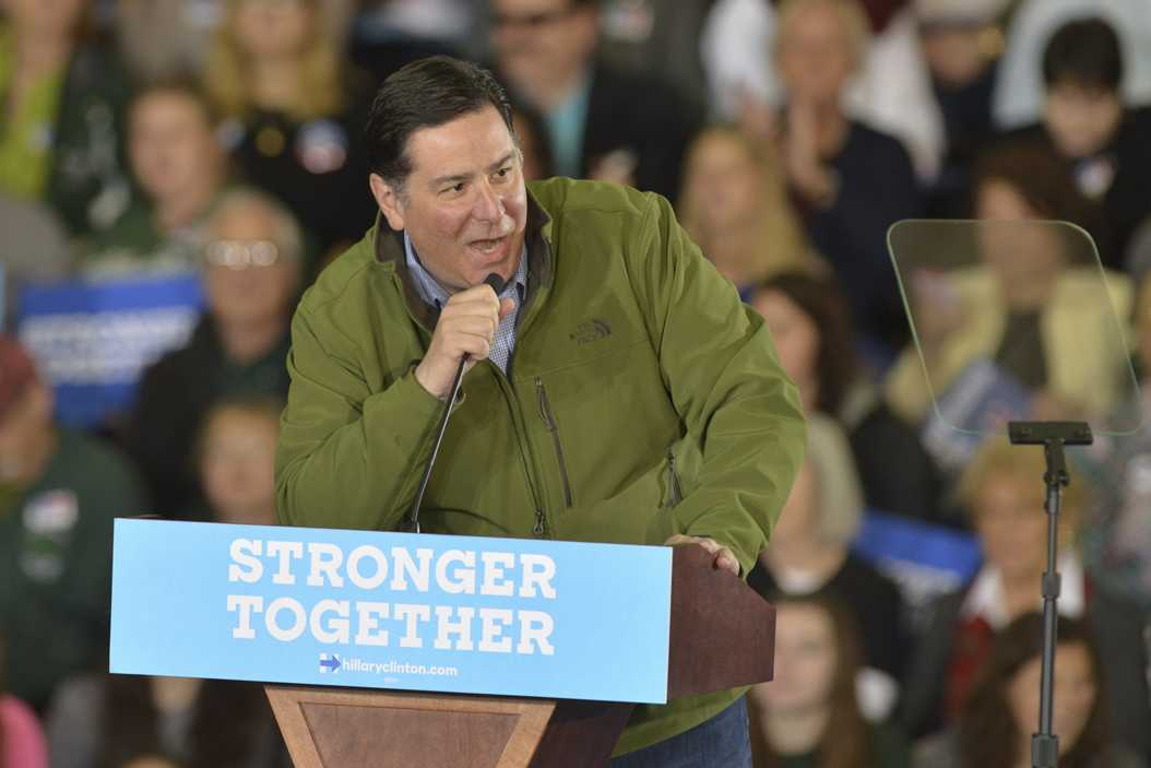 Mayor Peduto speaks at a Hillary Clinton rally in October. Stephen Caruso | Online Visual Editor