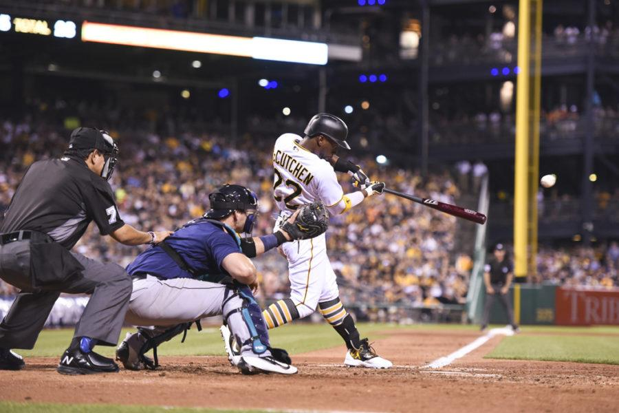 Andrew+McCutchen+will+not+be+patrolling+center+field+for+the+Pirates+this+season%2C+with+the+duties+instead+going+to+Gold+Glove-winner+Starling+Marte.+Matt+Hawley+%7C+Staff+Photographer
