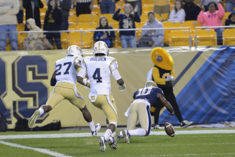 Pitt tied an NCAA record with five fumbles in the first quarter of a 56-28 loss to Georgia Tech in 2014. Jeff Ahearn | Senior Staff Photographer