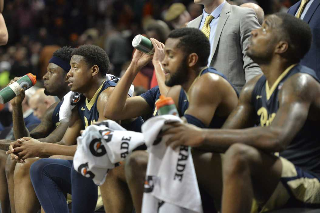 Pitt seniors Jamel Artis, Chris Jones, Sheldon Jeter and Michael Young (left to right) opened up about their memories at Pitt and future plans following the Panthers' season-ending loss at the ACC Tournament. John Hamilton | Visual Editor