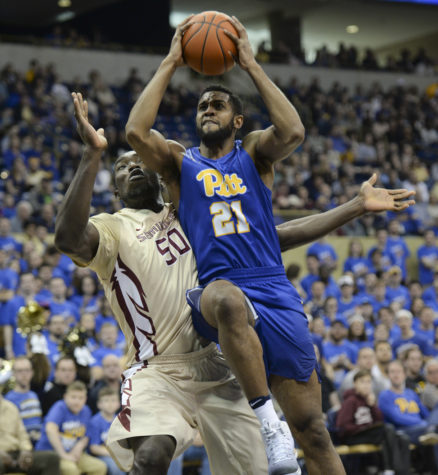 Pitt senior forward Sheldon Jeter scored a career-high 29 points in Pitt's 80-66 win over the then-No. 17 Florida State Seminoles Feb. 20. John Hamilton | Visual Editor