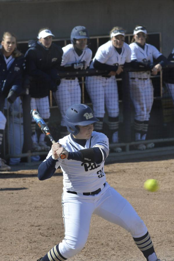 Cleanup hitter Giorgiana Zeremenko slugged a pair of home runs Wednesday in Pitt's home-opening 7-0 win over Kent State. Kyleen Considine | Staff Photographer