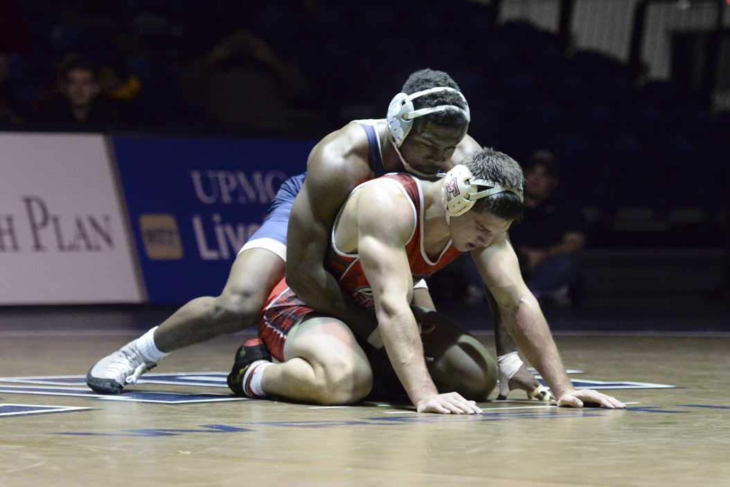 TeShan Campbell would have been one of Pitt's most valuable wrestlers next year, but he announced his intention to transfer to The Ohio State University Monday. TPN File Photo (2017)