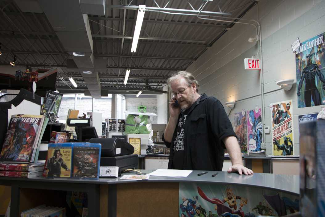 Wayne Wise has worked at Phantom of the Attic Comics since 1997. Evan Meng | Staff Photographer
