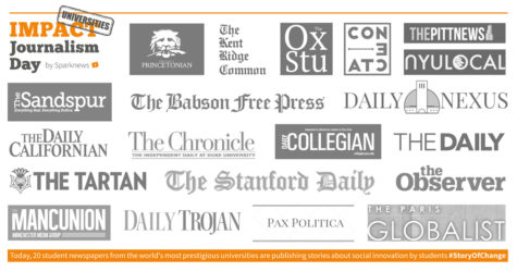 The universities participating in Impact Journalism Day 2017. Courtesy of Sparknews