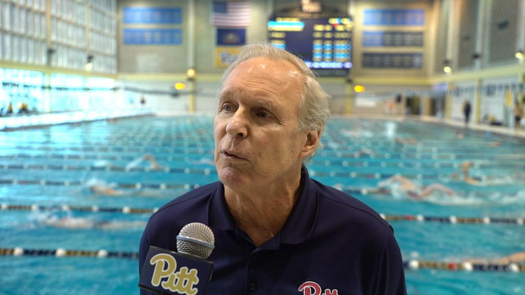 Pitt diving coach Julian Krug retired after 44 years coaching, including the past 38 with the Panthers. Courtesy of Pitt Athletics.