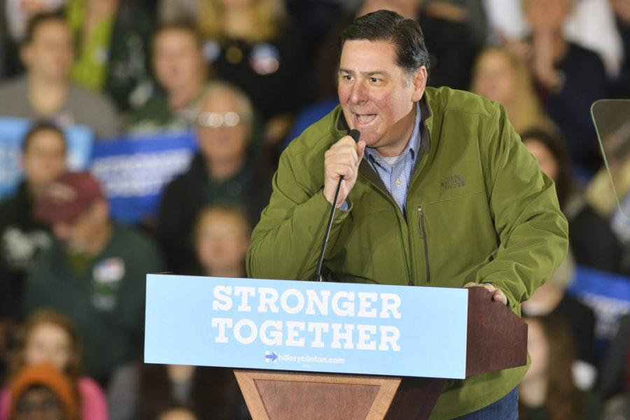Pittsburgh Mayor Bill Peduto, pictured at a Hillary Clinton in October, announced a new intuitive to try and add more diversity to city government positions. Stephen Caruso | Assistant Visual Editor