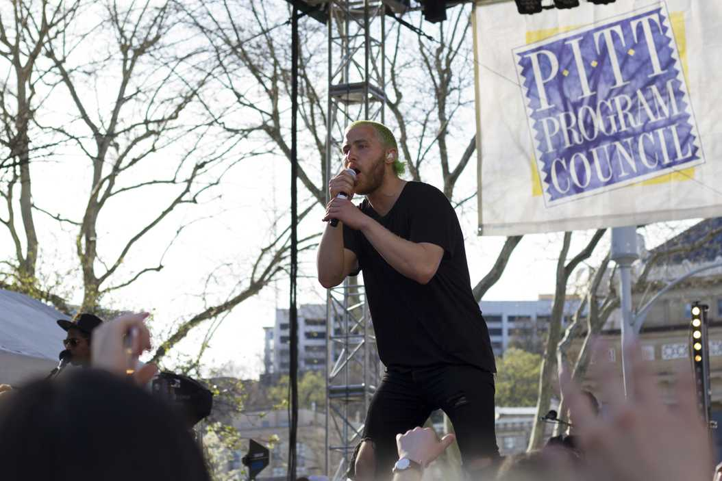 Mike Posner performs at PPC's annual Biglow Bash on Sunday, April 9. Thomas Yang | Staff Photographer