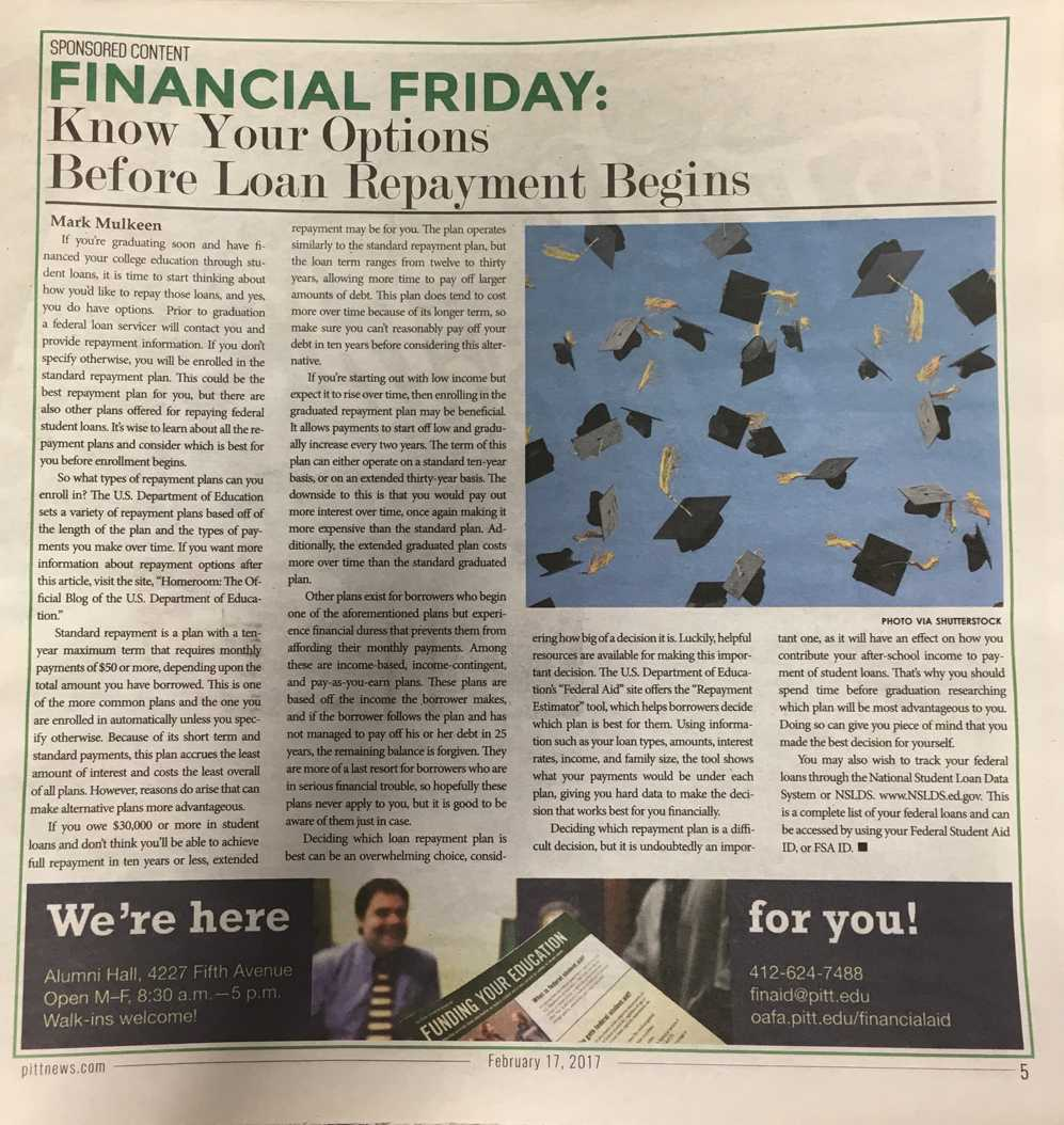 The Pitt News won third place in CMBAM's sponsored content category for Financial Fridays.