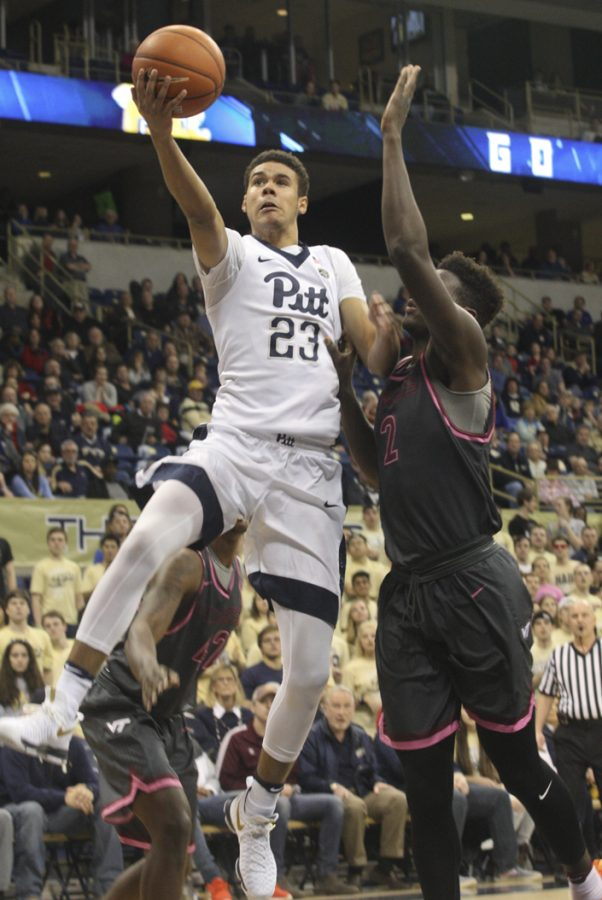 Cameron Johnson (23) is the fourth player to transfer from the Pitt men's basketball team since the end of the season. TPN File Photo (2017)