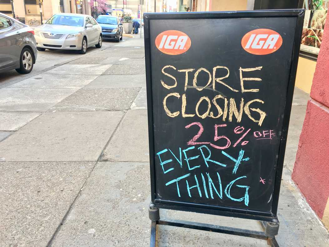 IGA will close at the end of the week. Meghan Sunners | Visual Editor