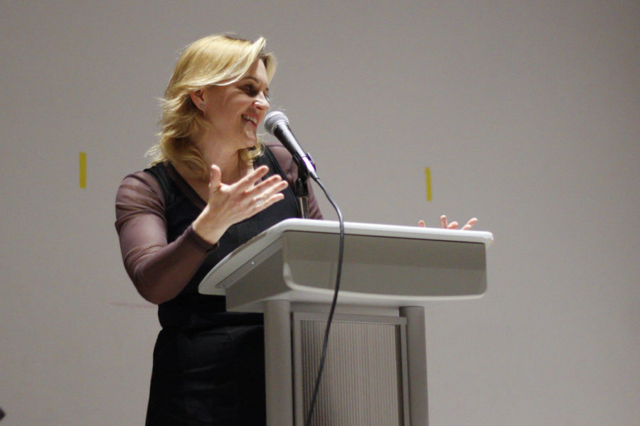 Author Meghan Daum read a chapter from her book,
