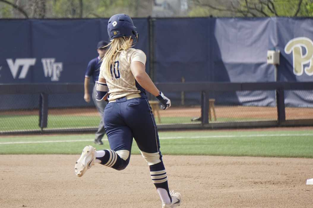 Olivia Gray drove in both of the Panthers' runs, but her efforts weren't enough as Pitt fell to No. 25 Ohio State Tuesday afternoon, 3-2. Daniel Pomper | Staff Photographer