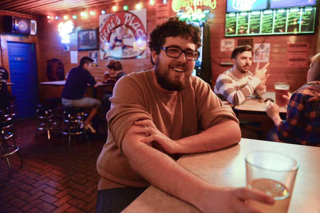 Assistant Visual Editor Stephen Caruso enjoying a beer at Gene's Place. Meghan Sunners | Visual Editor