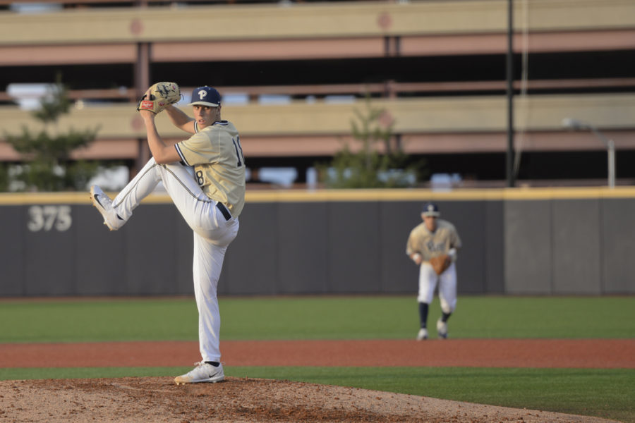 Pitt freshman pitcher Dan Hammer battled against Georgia Tech's Keyton Gibson as the Panthers dropped the second game of the series, 4-3. TPN File Photo