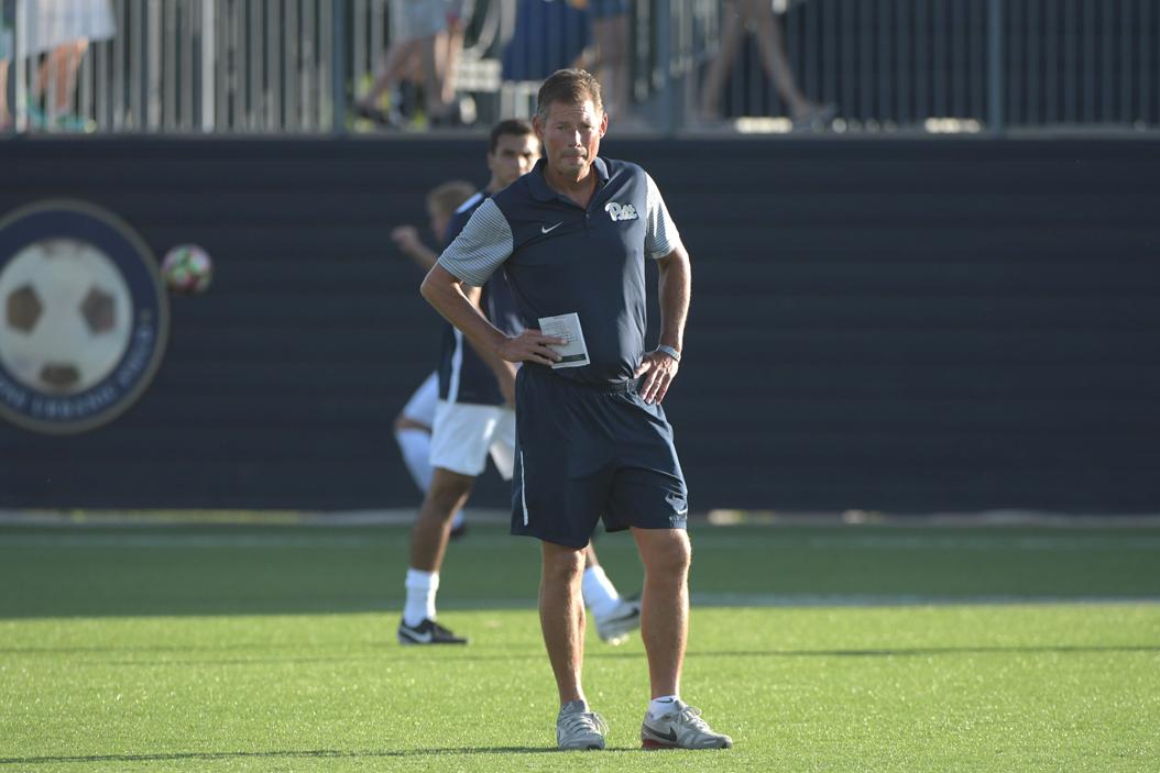 Men's soccer Coach Jay Vidovich is looking to replicate the success he had at Wake Forest, where he was a two-time NSCAA national coach of the year. Photo courtesy of Pitt Athletics