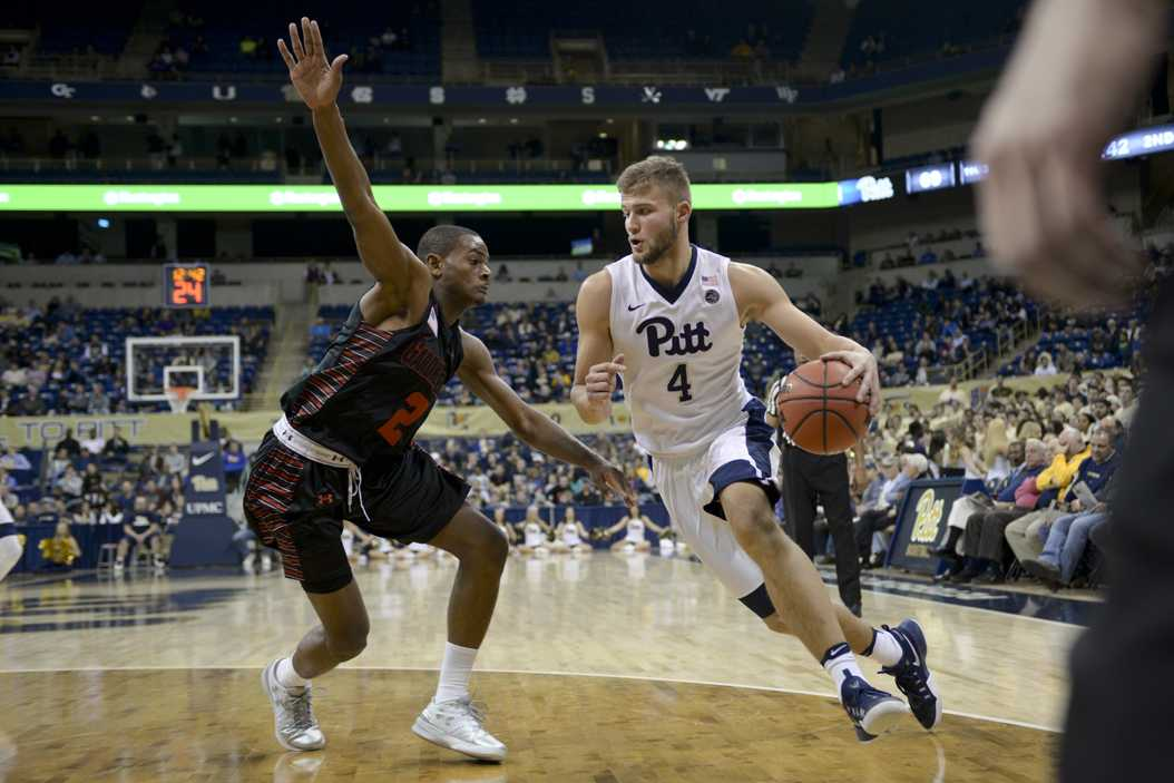 Senior forward Ryan Luther will have to improve his game and become a team leader if the Panthers are to compete in the ACC this season. (Photo by Wenhao Wu | Senior Staff Photographer)