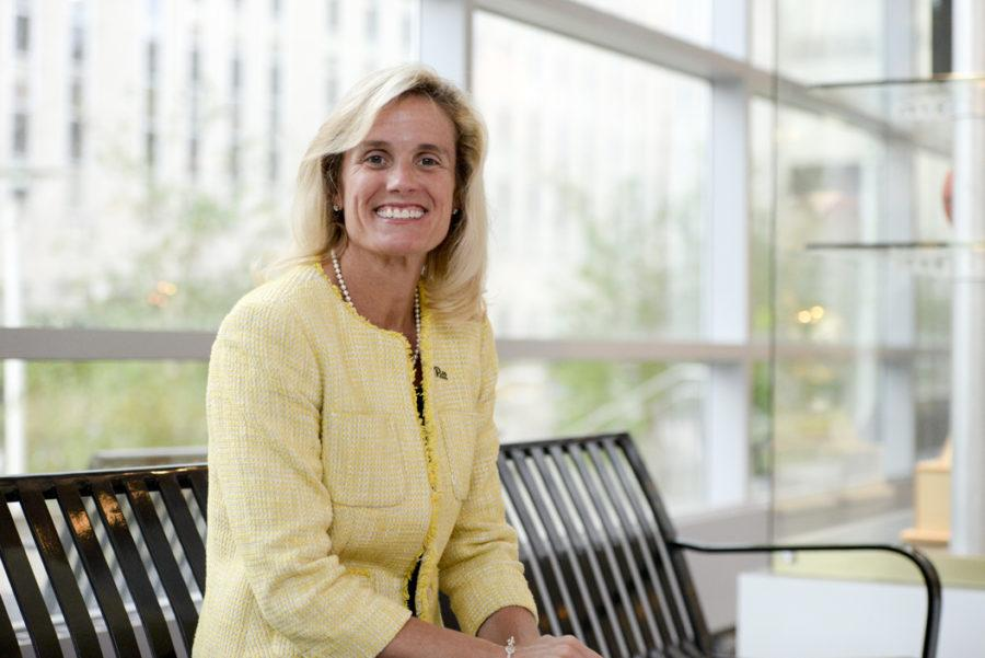 Pitt Athletic Director Heather Lyke previously worked with Hoppe at Eastern Michigan University from 2011-17. (Photo by Jordan Mondell/Contributing Editor)