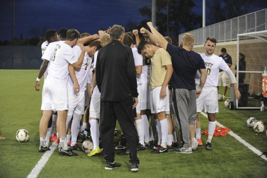 Head+Coach+Jay+Vidovich+and+the+Pitt+men%27s+soccer+team+are+hoping+to+get+the+program%27s+first-ever+ACC+win+this+fall.+%28TPN+File+Photo%29