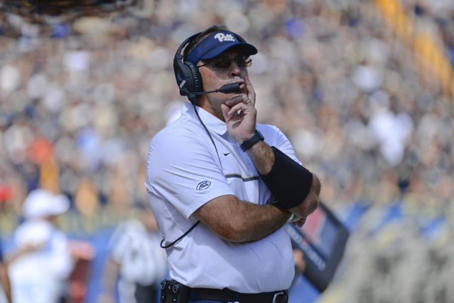 Head Coach Pat Narduzzi has turned Pitt into a conference contender in his first two seasons and looks to take another step forward this fall. TPN File Photo