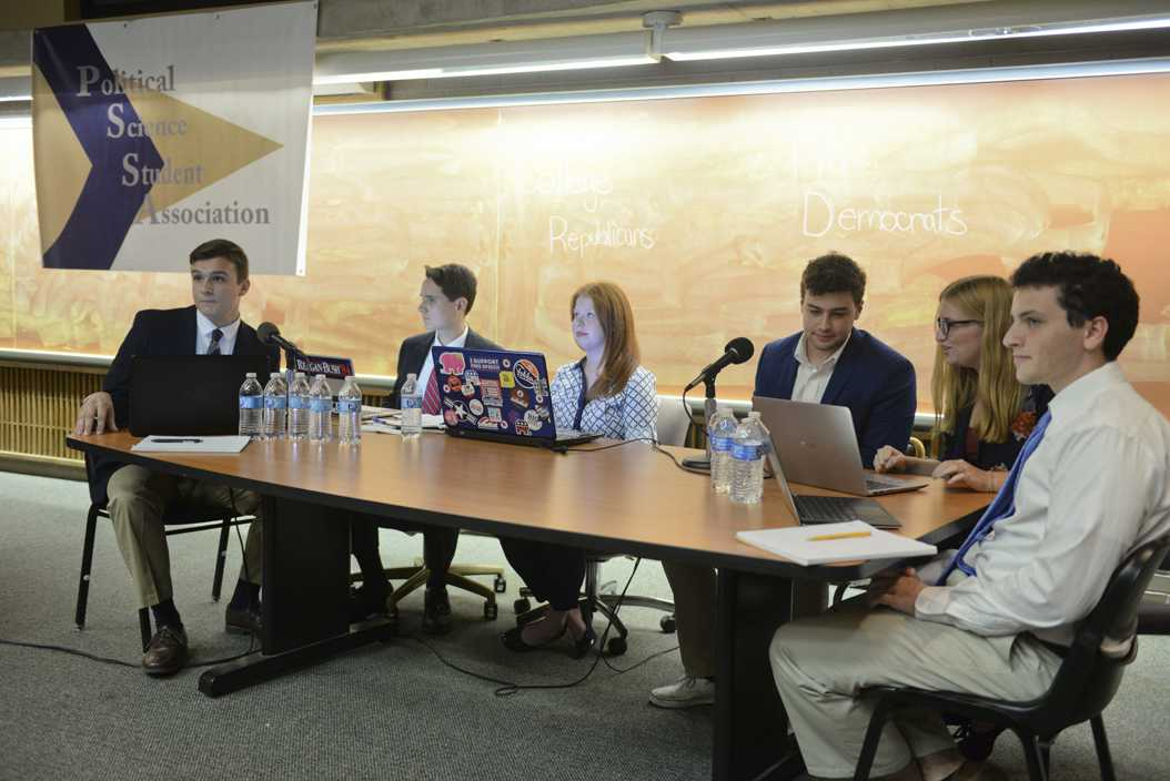 The Political Science Student Association hosted its yearly debate between the College Democrats and College Republicans last September. (TPN File Photo)