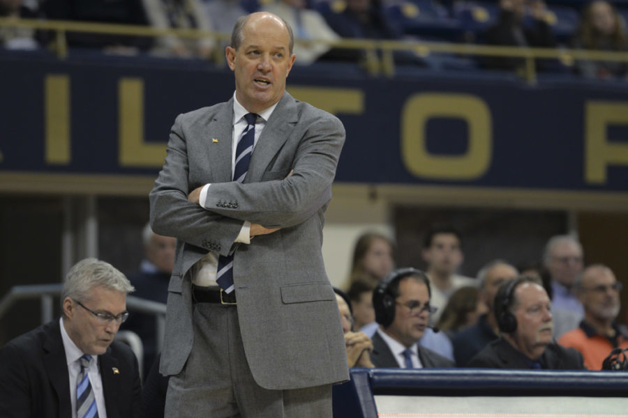 Pitt+basketball+Head+Coach+Kevin+Stallings+has+lost+every+member+of+his+2016+recruiting+class.+Meghan+Sunners+%7C+Assistant+Visual+Editor