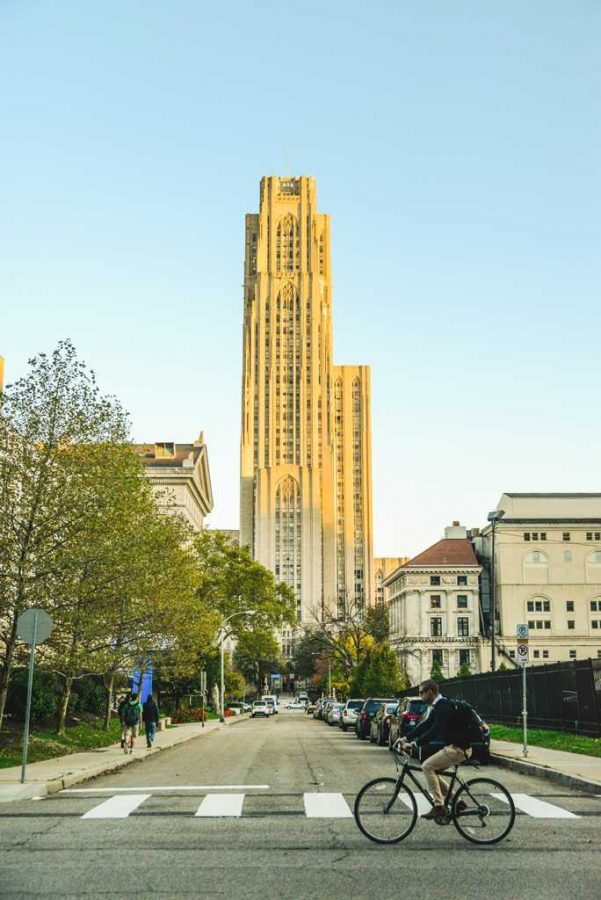 The University Honors College is housed on the 35th and 36th floors of the Cathedral of Learning. (TPN File Photo)