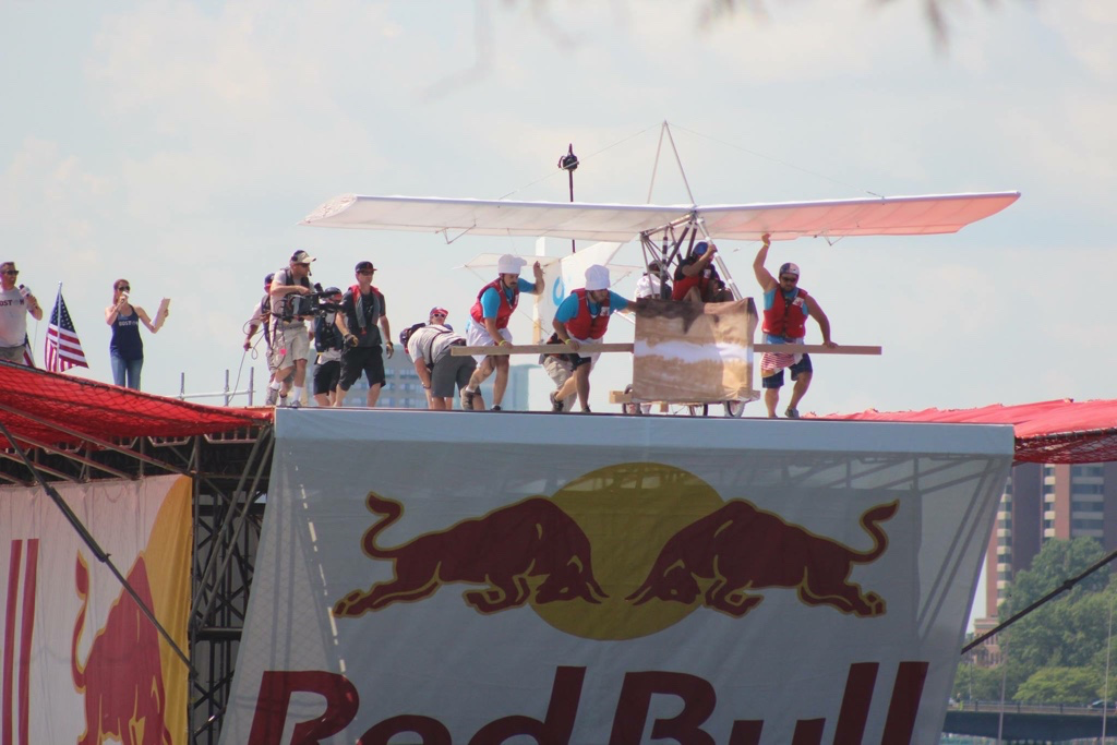 Red Bull Flugtag is coming to Pittsburgh next Saturday. The Roc-ettes, a team of Pitt engineers, hopes to take flight over the Allegheny River. (Photo via Wikipedia Creative Commons)