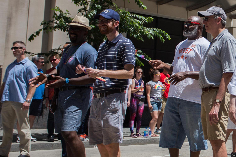 Councilman Gilman marches in Pittsburgh's LGBTQ+ Pride Parade in June. (John Hamilton | Editor-In-Chief)