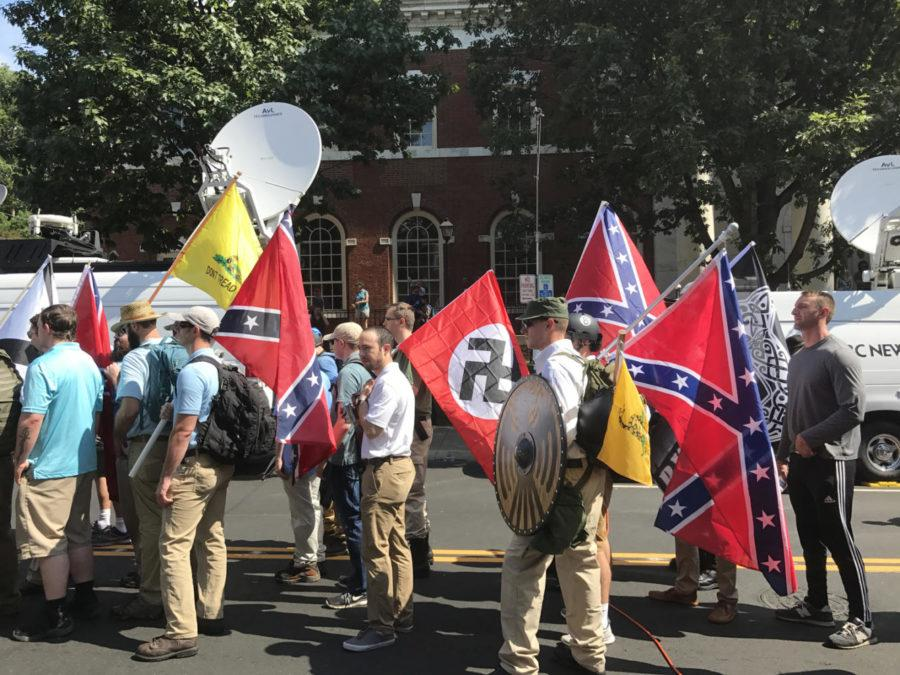 Neo-nazis+and+white+supremacists+prepare+to+enter+Emancipation+Park+during+a+%22Unite+the+Right%22+rally+in+Charlottesville%2C+VA+earlier+this+month.+%28Photo+via+Wikimedia+Commons%29
