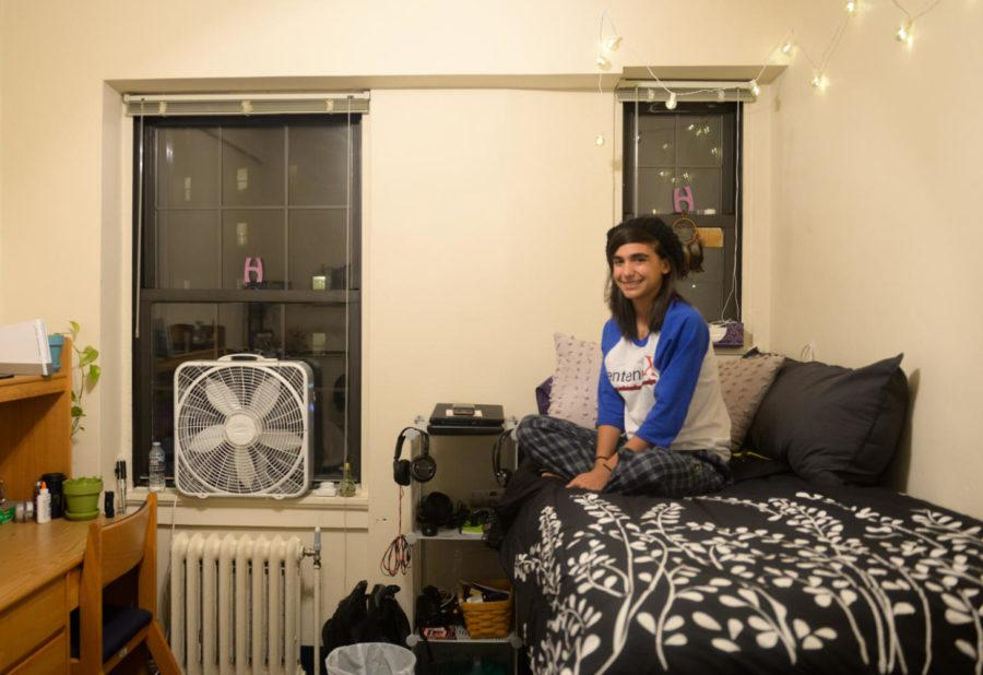 Rosina Roccamo, a freshman molecular biology major, lives in a single dorm room at Holland Hall. (Photo by Wenhao Wu | Assistant Visual Editor)