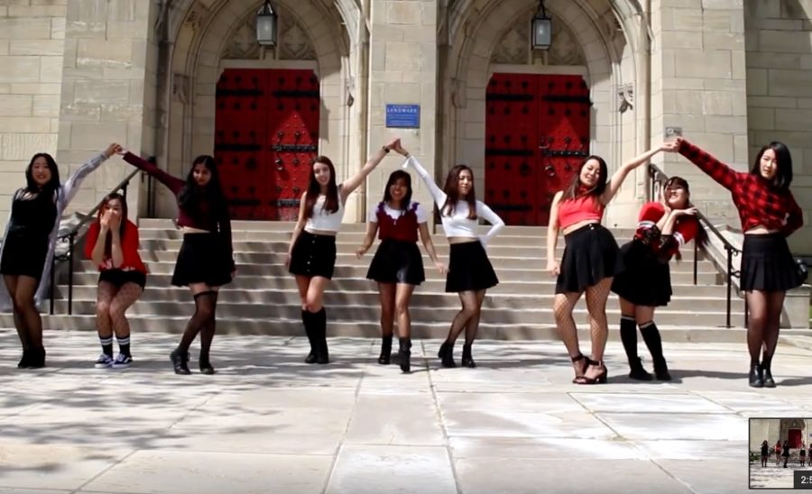Members+of+FRESA+recreated+a+South+Korean+pop+music+video+outside+of+the+Stephen+Foster+Memorial+Museum+%28Screenshot+via+FRESA+YouTube+Channel%29