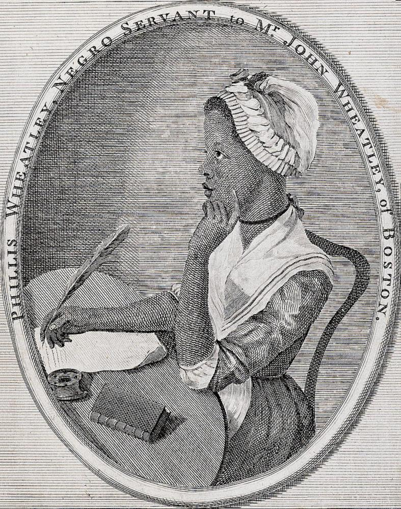 In 1773, Phillis Wheatley became the first African-American poet ever to be published. (Photo via Wikimedia Commons)