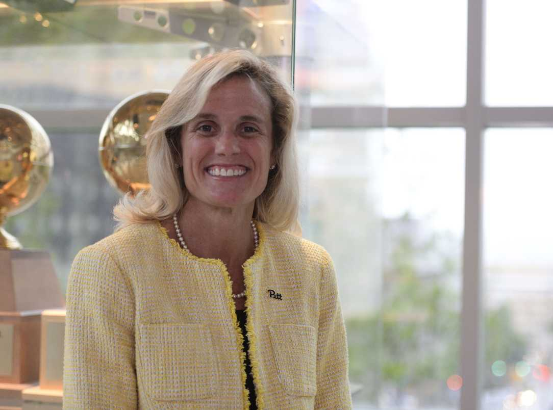 Heather Lyke was hired as Pitt's athletic director in March 2017 and wasted no time building her team. (Photo by Jordan Mondell | Senior Staff Photographer)