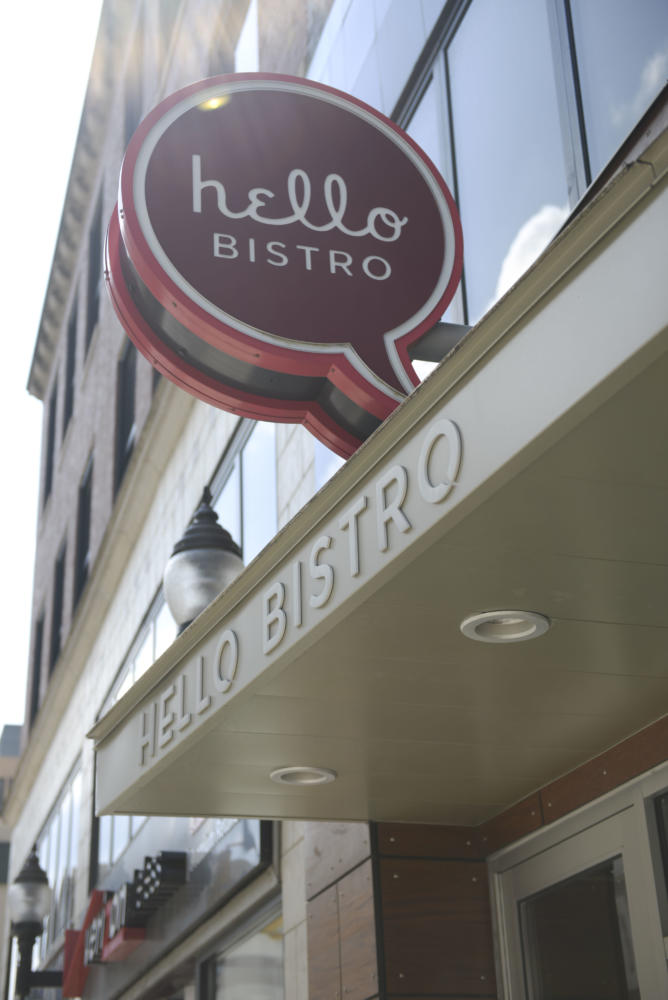 Hello Bistro's cuisine features a variety of salads and burgers. (Photo by Anna Bongardino | Visual Editor)