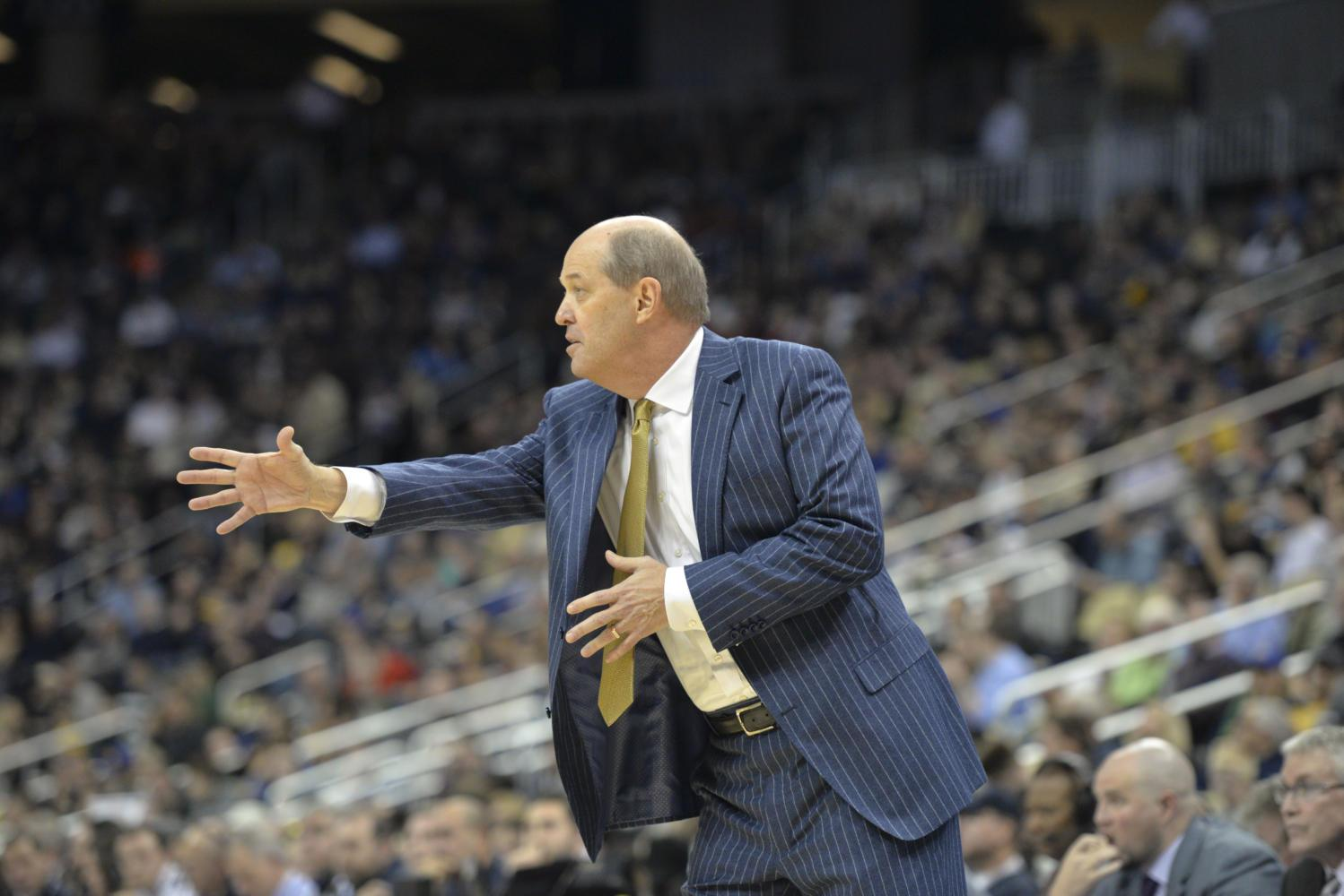 Men's basketball head coach Kevin Stallings has quickly become one of the most controversial figures in recent Pitt sports history, but he still deserves time to build his program. (Photo by John Hamilton | Editor-in-Chief)