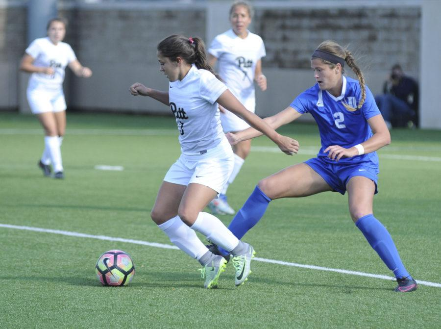 Panther forward Sarah Krause had an assist on Pitt's lone goal against Xavier Sunday afternoon. (TPN File Photo)
